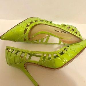 Wild Diva Neon Heel Sz 8 Neon Green